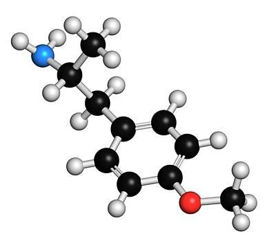 P-methoxyamphetamine Hallucinogenic Drug Art Print