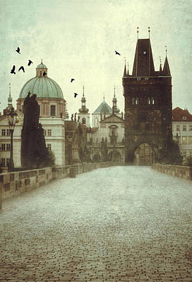 Prague At Dawn Art Print