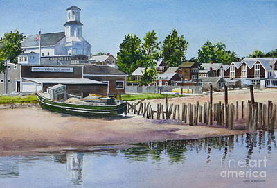 P' Town Boat Works Art Print