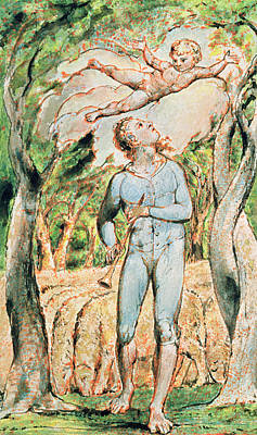 William Blake Painting - P.124-1950.ptl Frontispiece To Songs by William Blake