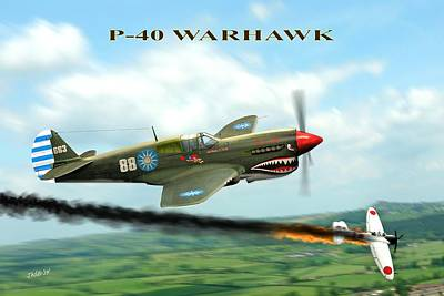 P40 Warhawk Art Print