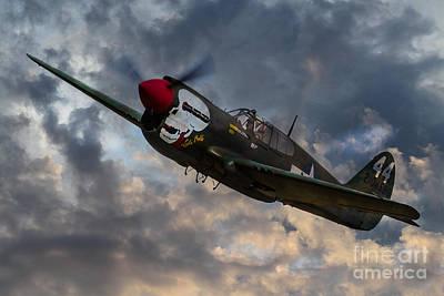 P40 Warhawk Tribute Art Print by J Biggadike