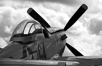 P51 In Clouds Art Print by Remy NININ