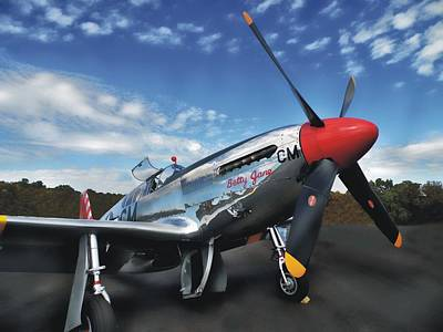 Photograph - P-51 Mustang Betty Jane by Joe Duket