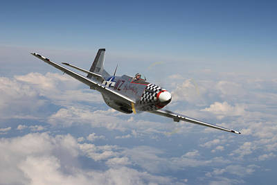 P51 Mustang - Big Beautiful Doll Art Print by Pat Speirs