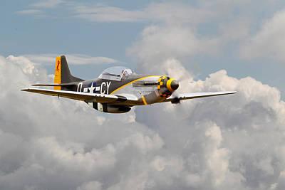 Luftwaffe Digital Art - P51 Mustang - Miss Velma by Pat Speirs