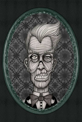 Creepy Mixed Media - Pa Mortis Framed by Kris Milo