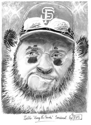 Pablo Kung Fu Panda Sandoval Art Print by Bas Van Sloten