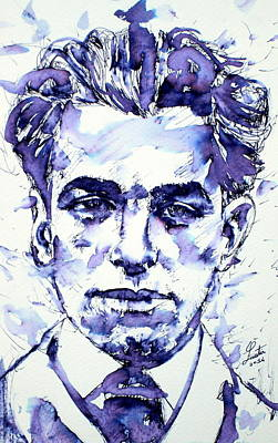 Pablo Neruda  Art Print by Fabrizio Cassetta