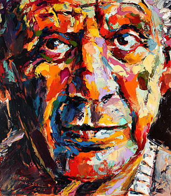 Derek Russell Wall Art - Painting - Pablo Picasso by Derek Russell