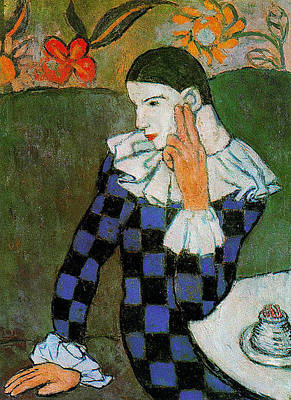 Painting - Pablo Picasso Harlequin by Lois Picasso