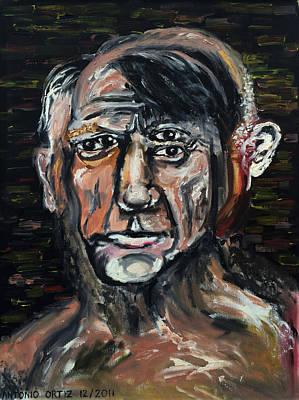 Baselitz Painting - Perverted Little Man    by Antonio Ortiz