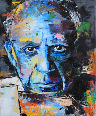 Pablo Picasso Art Print by Richard Day