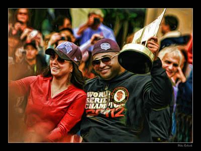 Photograph - Pablo Sandoval World Series Vip 2012 by Blake Richards