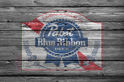 Handcrafted Photograph - Pabst Blue Ribbon Beer by Joe Hamilton