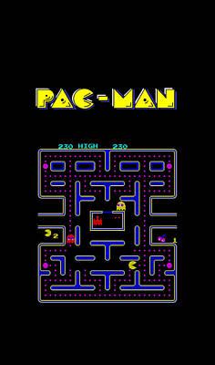 Pac Man Phone Case Art Print