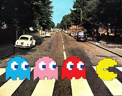 Pac Man Digital Art - Paccy Road by Paul Van Scott