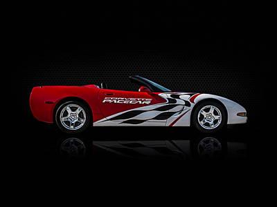 Red Chevy Digital Art - Pace Maker by Douglas Pittman