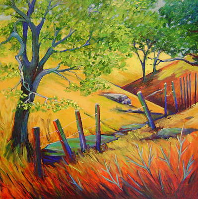 Lanscape Painting - Pacheco Oak Valley by Stephanie  Maclean
