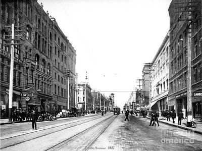 Photograph - Pacific Avenue Tacoma 1907 by Harney