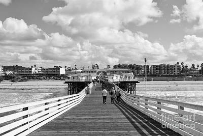 Pacific Beach From Crystal Pier Art Print