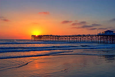 Photograph - Pacific Beach Pier Sunset Ex Lrg by Peter Tellone