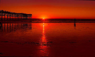 Photograph - Pacific Beach Sunset by Tammy Espino
