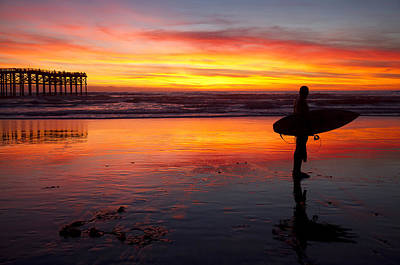 Photograph - Pacific Beach Was On Fire Tonight by Nathan Rupert