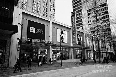 Pacific Centre Shopping Mall Granville Street Downtown Vancouver Bc Canada Art Print by Joe Fox