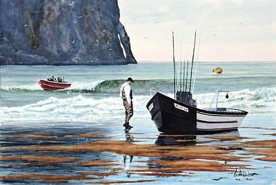 Painting - Pacific City Doryman by Bill Hudson