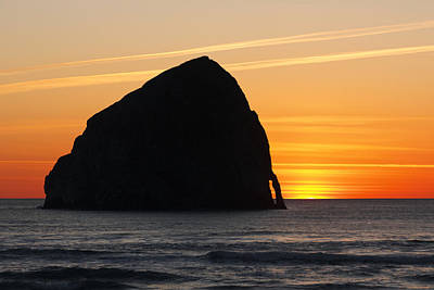 Photograph - Pacific City Sunset by Wes and Dotty Weber