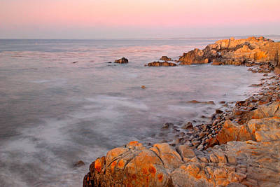 Photograph - Pacific Coast At Sunset  Near Pebble Beach California by Willie Harper
