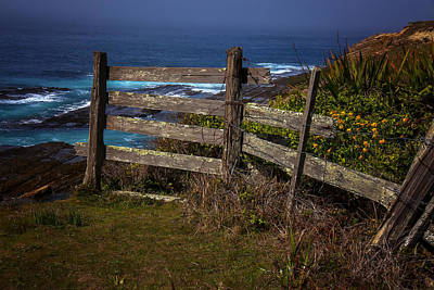 Barbwire Photograph - Pacific Coast Fence by Garry Gay