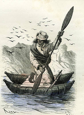 South Pacific Drawing - Pacific Coast Fisher 1869 Peru by Peruvian School