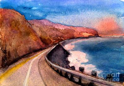Pacific Coast Highway Art Print by Sandra Stone