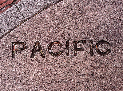 Photograph - Pacific Concrete Street Sign by Bill Owen