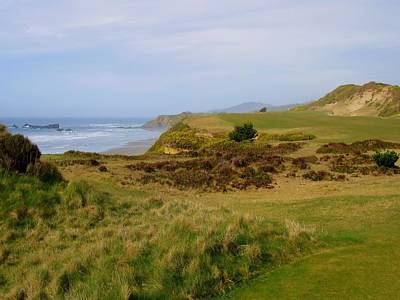 Golf Photograph - Pacific Dunes 13th Hole by Scott Carda