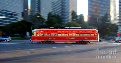Pcc Photograph - Pacific Electric Southern California 1061 F Line Pcc by Wernher Krutein