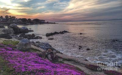 Photograph - Sunset In Pacific Grove by Charlene Mitchell