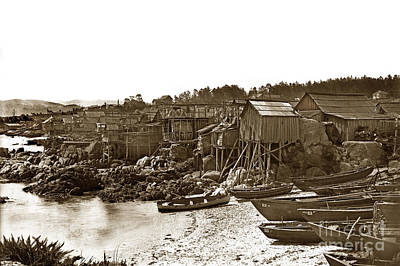 Photograph - Pacific Grove Chinatown Fishing Settlement That Burned Down In May Of 1906 by California Views Mr Pat Hathaway Archives