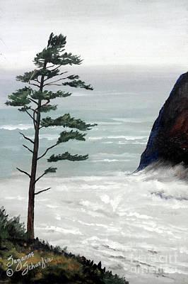 Pacific Northwest Soft Ocean Breezes Art Print by Suzanne Schaefer