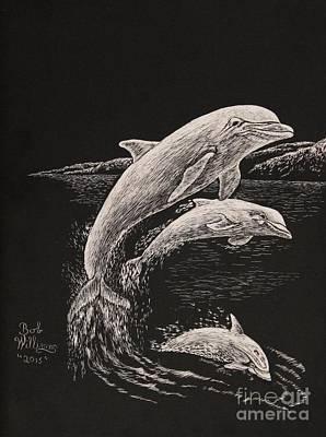 Pacific Ocean Acrobats  Art Print