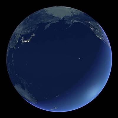 Pacific Ocean At Night Art Print by Planetary Visions Ltd/science Photo Library
