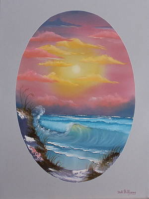Painting - Pacific Ocean Sunset by Bob Williams