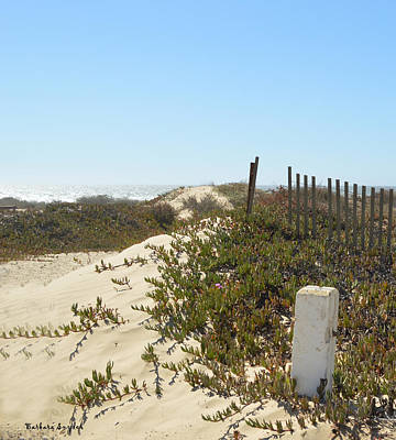 Sand Fences Digital Art - Pacific Pathway by Barbara Snyder