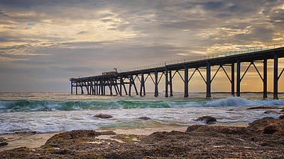Cove Photograph - Pacific Pier by Tim Brown