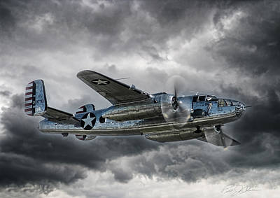 B-25 Digital Art - Pacific Prowler by Peter Chilelli