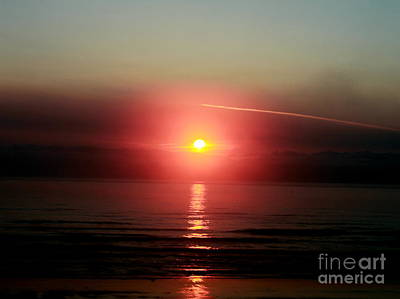 Photograph - Pacific Sunset 2 by Erica Hanel