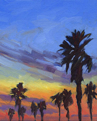 Painting - Pacific Sunset 2 by Konnie Kim