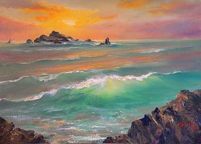 Painting - Pacific Sunset  by Gracia  Molloy
